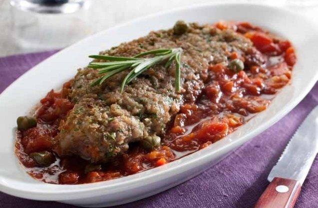 Kalfskoteletten in pittige tomatensaus