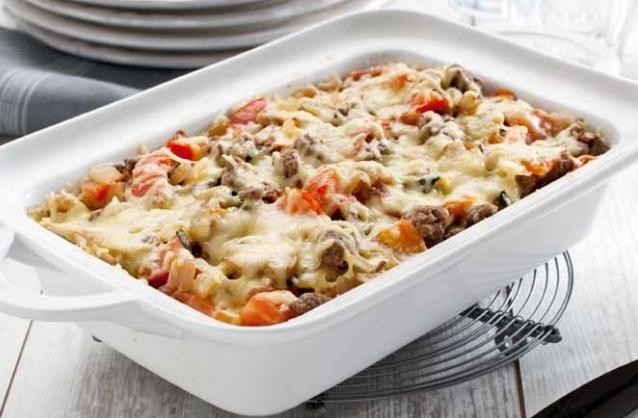 Pasta ovenschotel met spinazie en tartaar