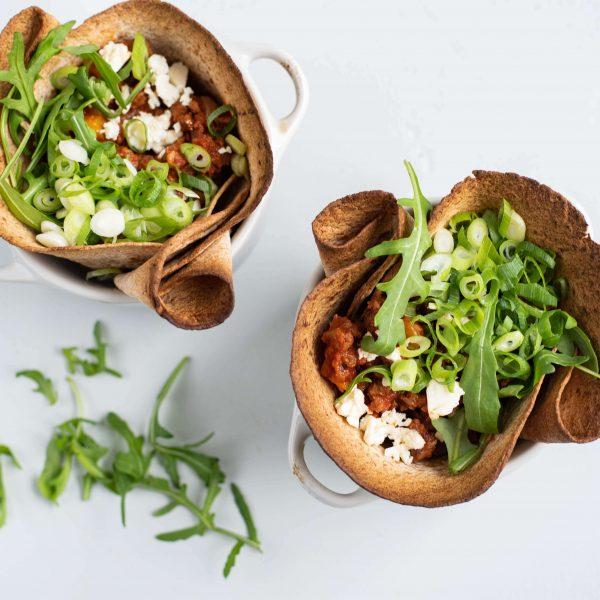Mexicaanse burrito-bakjes