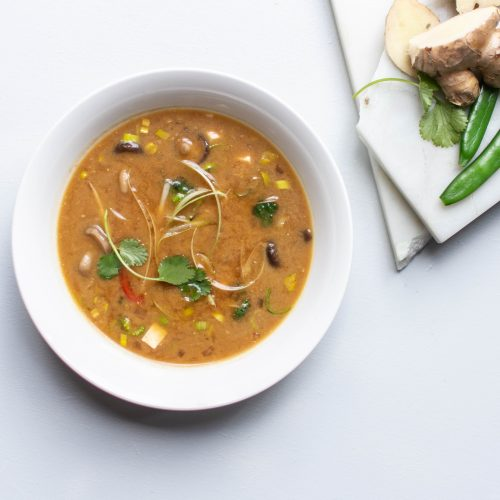 Miso soep met vijf soorten groenten