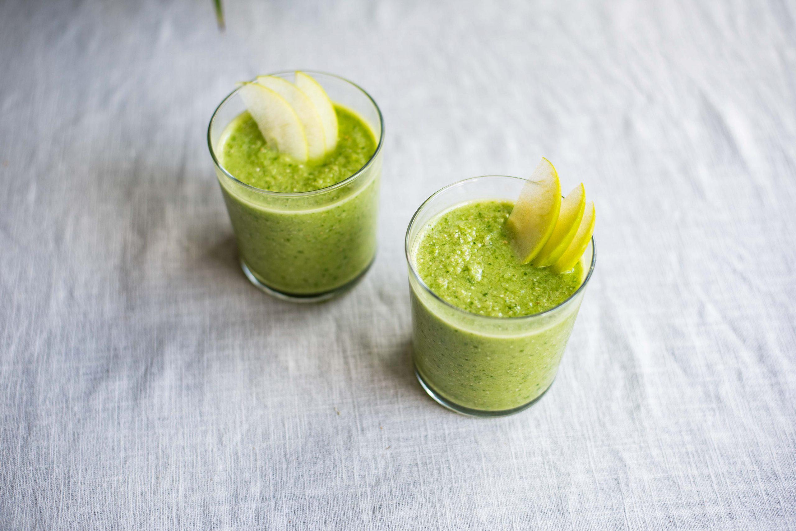 Komkommer-spinazie smoothie